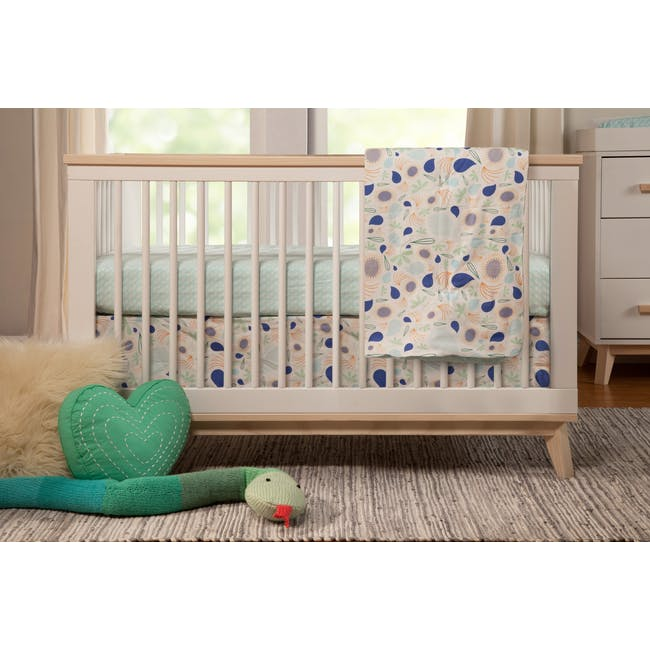 Babyletto Scoot 3-in-1 Convertible Crib - White/Washed - 2