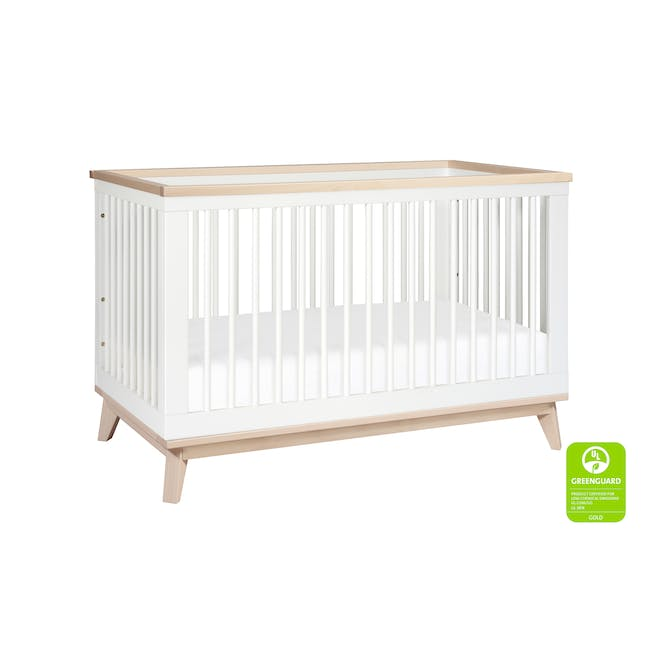 Babyletto Scoot 3-in-1 Convertible Crib - White/Washed - 5
