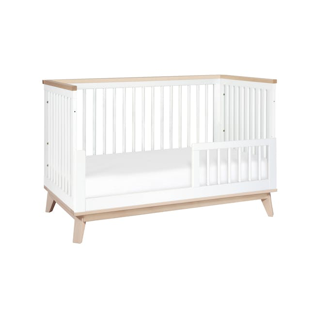 Babyletto Scoot 3-in-1 Convertible Crib - White/Washed - 6