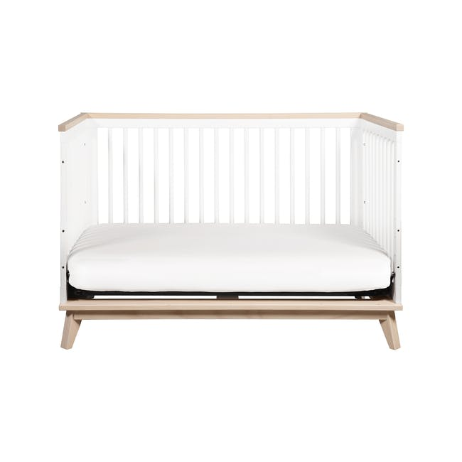 Babyletto Scoot 3-in-1 Convertible Crib - White/Washed - 4