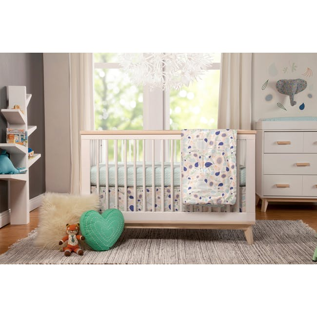 Babyletto Scoot 3-in-1 Convertible Crib - White/Washed - 8