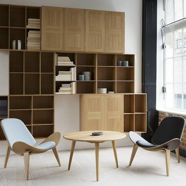 Shell Chair - Oak, White (Genuine Leather) - 2