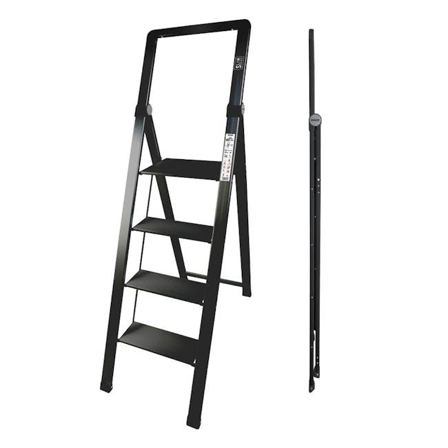 HOUZE Slim Aluminium 4 Tier Ladder - 1