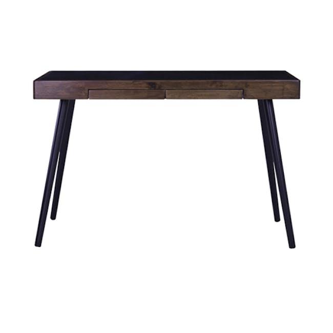 Reth Study Table - Black, Walnut - 0