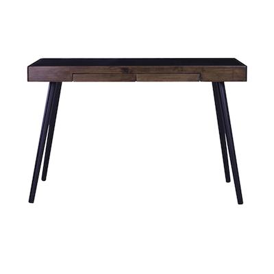 Reth Working Desk - Black, Walnut - Image 1