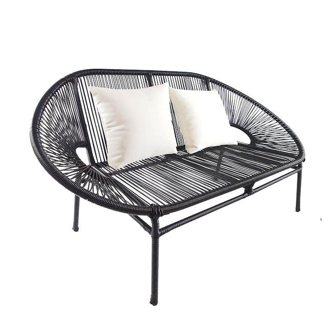 Shelton Sofa Set with White Pillow - 1