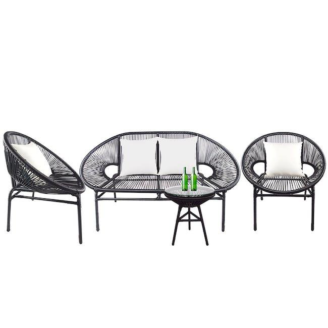 Shelton Sofa Set with White Pillow - 0