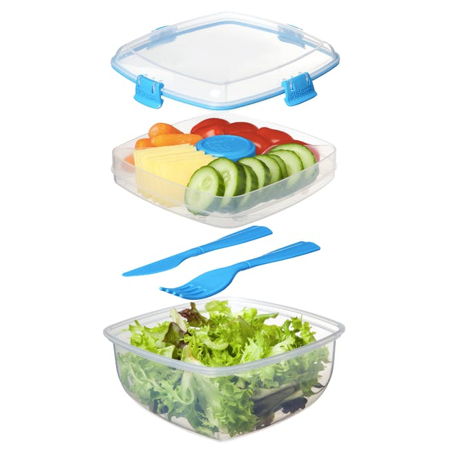 Sistema Salad to Go 1.1L - Blue - 2