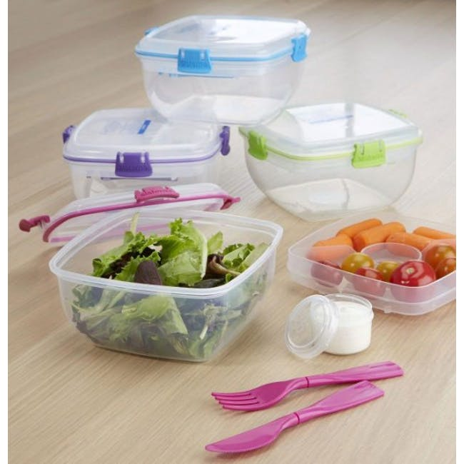 Sistema Salad to Go 1.1L - Blue - 4