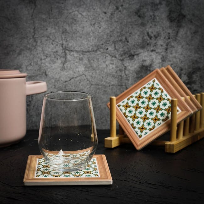 Peranakan Ceramic Cup Coaster - Rue - 1
