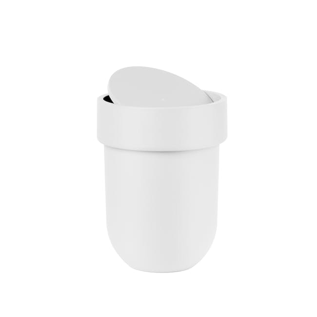 Touch Waste Can with Lid - White - 0