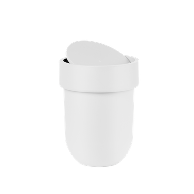 Touch Waste Can with Lid - White - Image 2