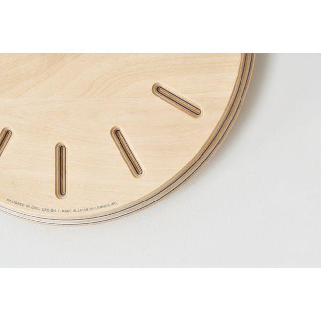 Dot Paper-Wood Clock - Green - 3