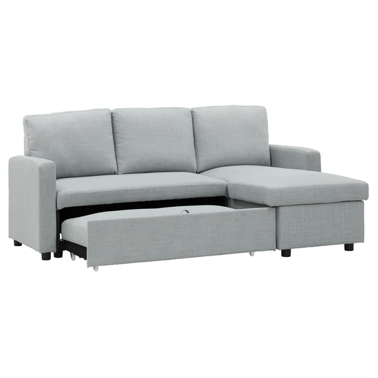 Sofa Beds Mlm Mia L Shape Bed With Storage Silver
