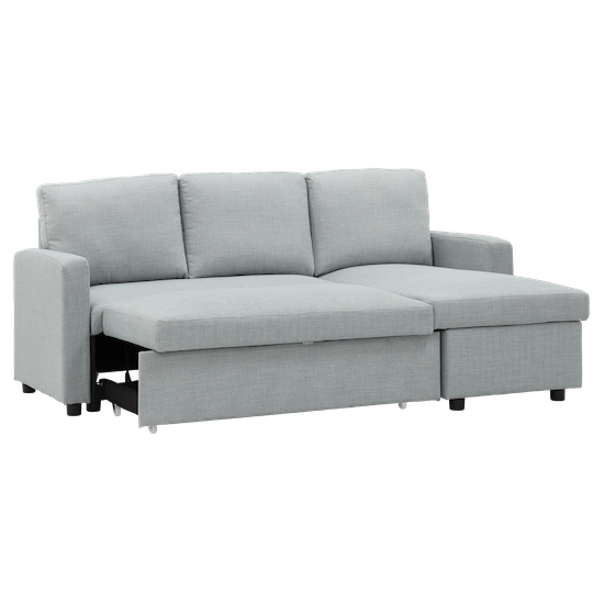 Apartment Sofas By Hipvan Mia L Shape Sofa Bed With Storage Silver