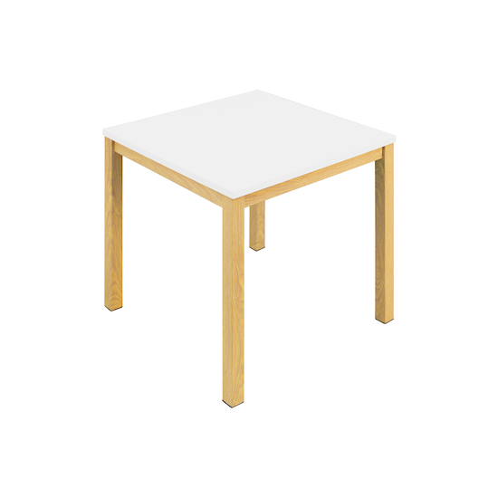 Glass and Metal - Paco Side Table - White