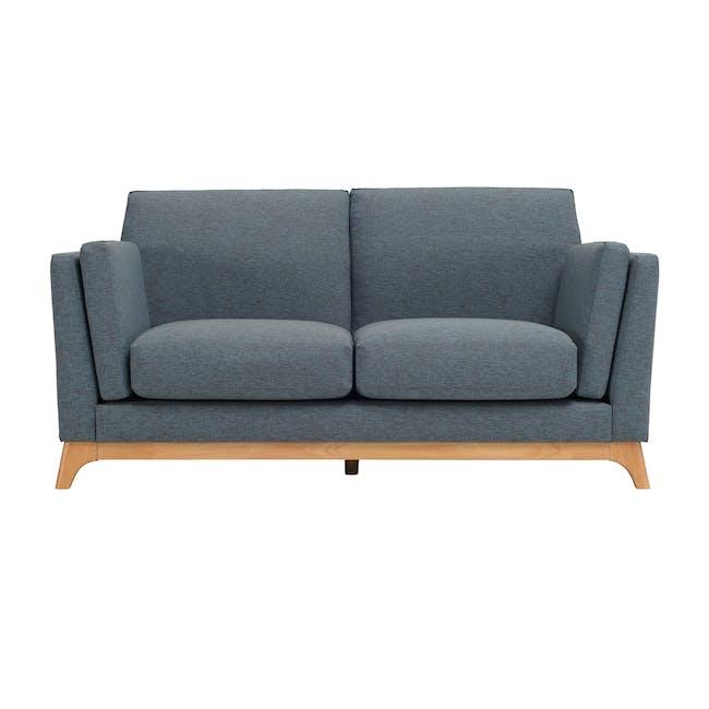 Elijah 3 Seater Sofa with Elijah 2 Seater Sofa - Whale (Fabric) - 3