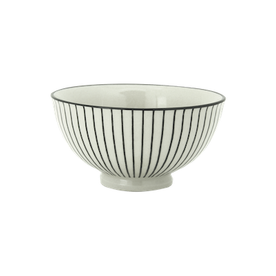 Vertiver Small Rice Bowl - White, Vertical - Image 1