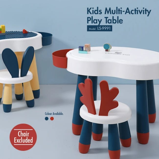Kids Multi-Activity Play Chair - Red - 1