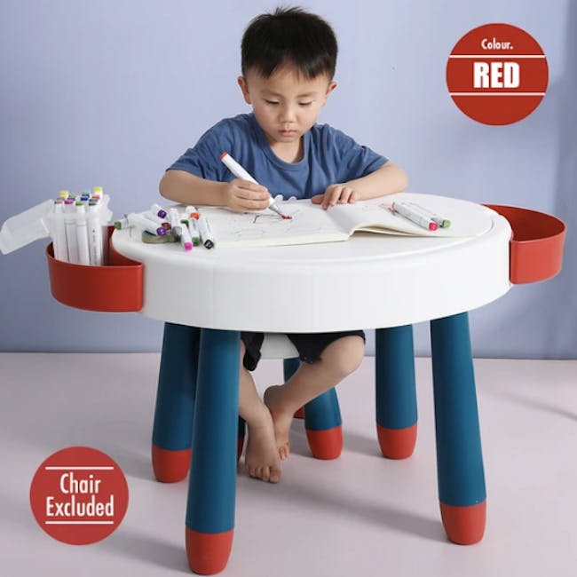 Kids Multi-Activity Play Table - Red - 2