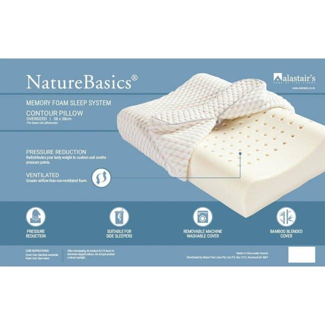 Nature Basics Memory Foam Contoured Pillow - 1