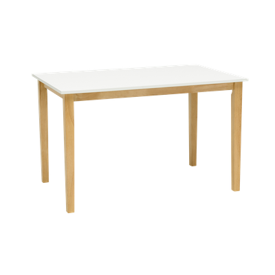 Paco Dining Table 1.2m with 4 Fynn Dining Chairs - Natural, White - Image 2