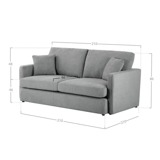 Ashley 3 Seater Lounge Sofa - Stone - 3