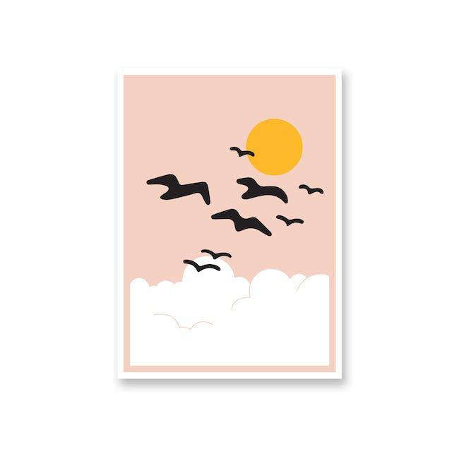 Borderless Graphic Art Print on Paper (2 Sizes) - Flight - 0