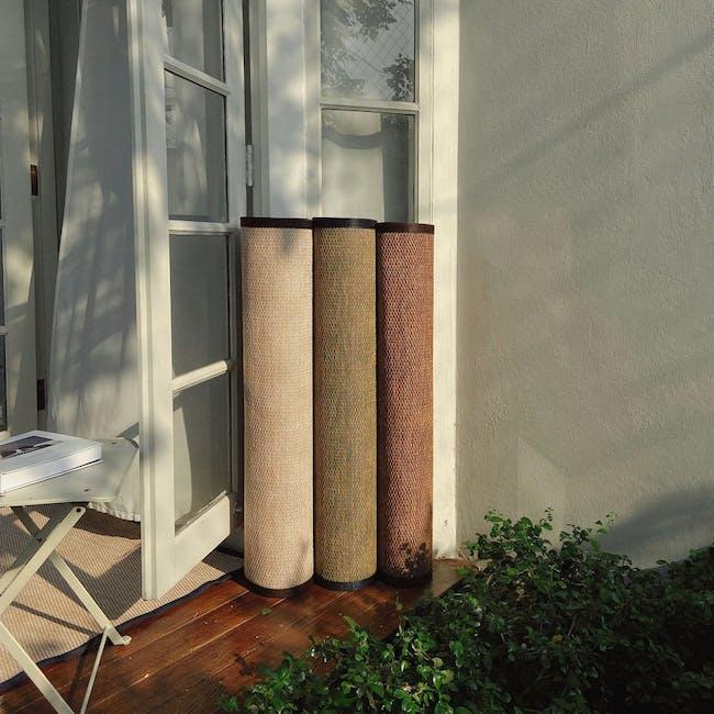 Natural Small Reversible Mat 2m x 0.9m - Bamboo Green - 2