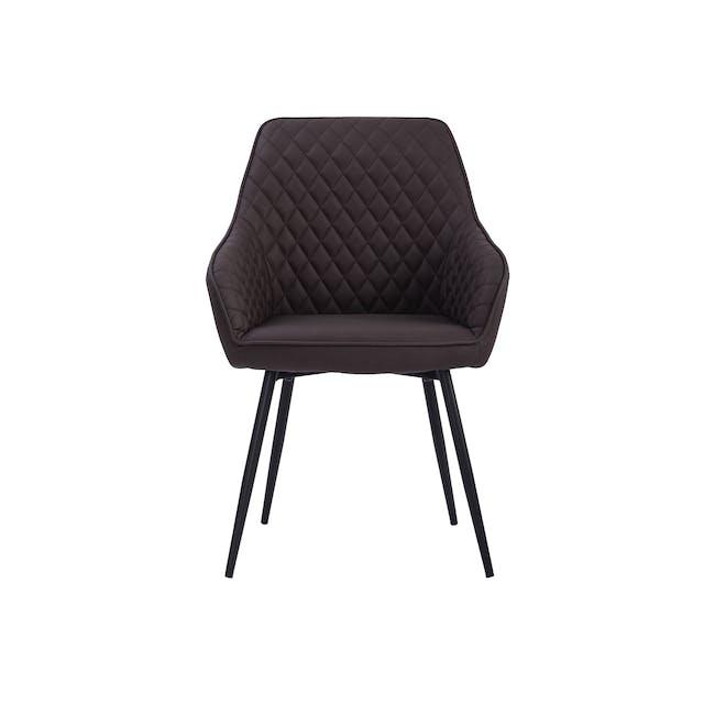 Hakon Dining Chair - Mocha (Faux Leather) - 2