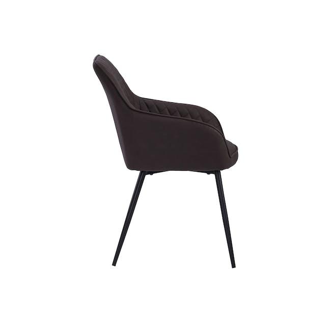 Hakon Dining Chair - Mocha (Faux Leather) - 3