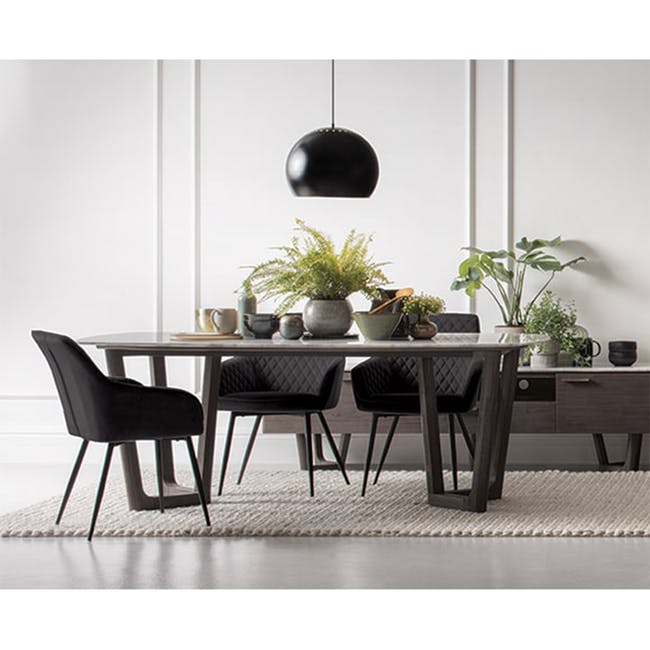 Hakon Dining Chair - Mocha (Faux Leather) - 1
