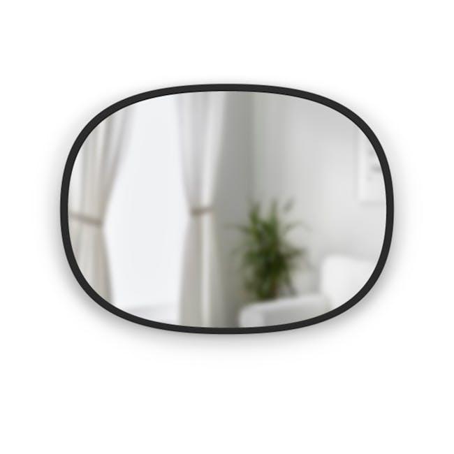 Hub Oval Mirror 46 x 61 cm - Black - 0
