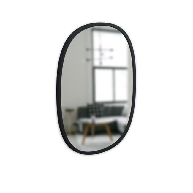 Hub Oval Mirror 46 x 61 cm - Black - 4