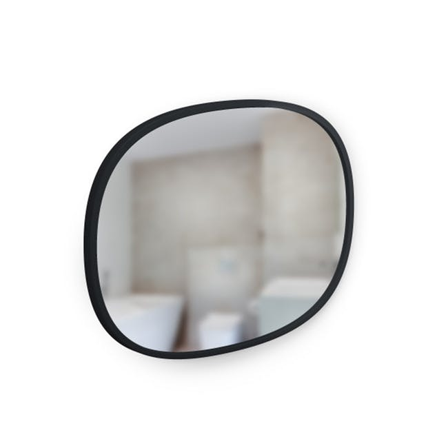 Hub Oval Mirror 46 x 61 cm - Black - 3