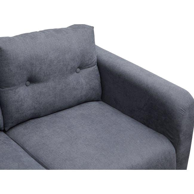 Bennett 3 Seater Sofa with Bennett Armchair - Midnight - 10