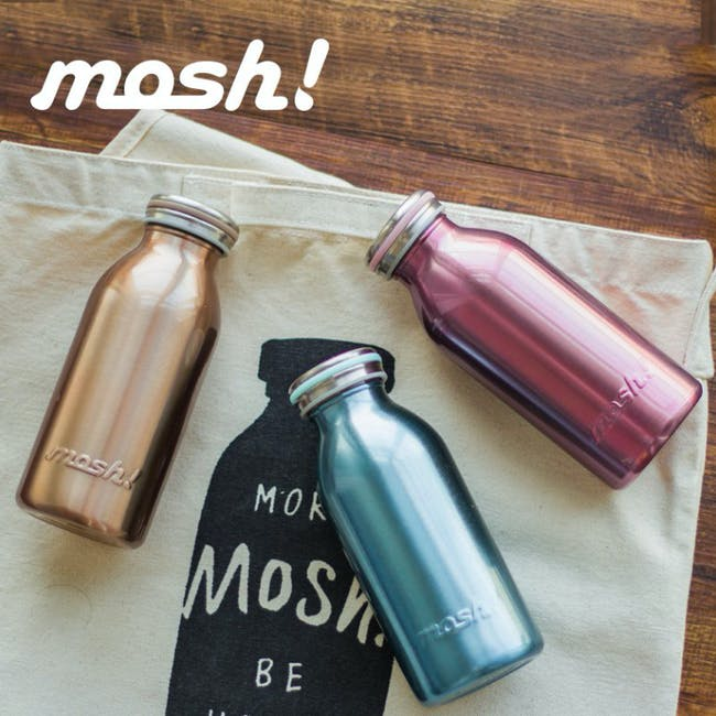 MOSH! Double-walled Stainless Steel Bottle 350ml -  Pearl Gold - 1