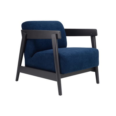 Daewood Lounge Chair - Graphite Grey, Midnight Blue - Image 2