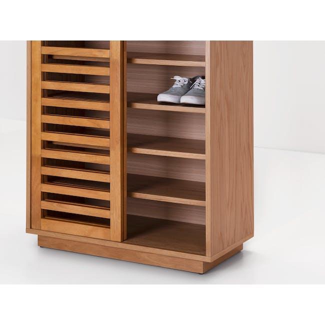 Keita Shoe Cabinet - Oak - 1