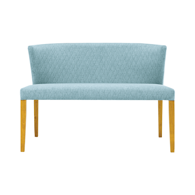 Rhoda Bench - Natural, Aquamarine