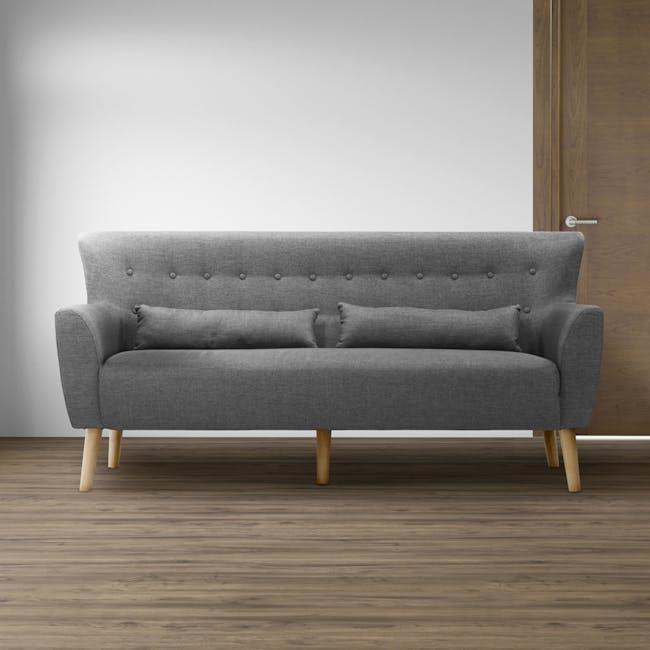 Sofia 3 Seater Sofa - Hailstorm - 1