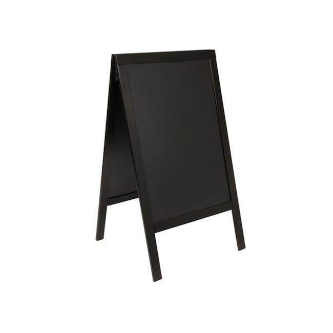 Securit Chalkboard Pine Wood Stand - Black - 0