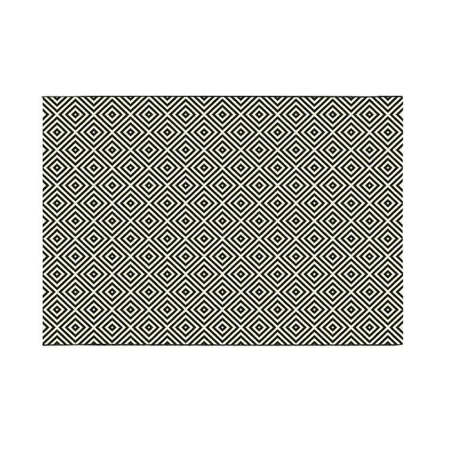 Essenza Flatwoven Rug 2.3m x 1.6m - Black Diamonds - 0