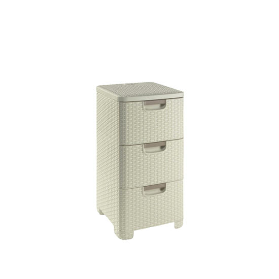 Curver - Rattan Style Drawer 3 - Off White