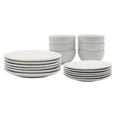 EVERYDAY 18-Pc Dinnerware Set - White - Image 1