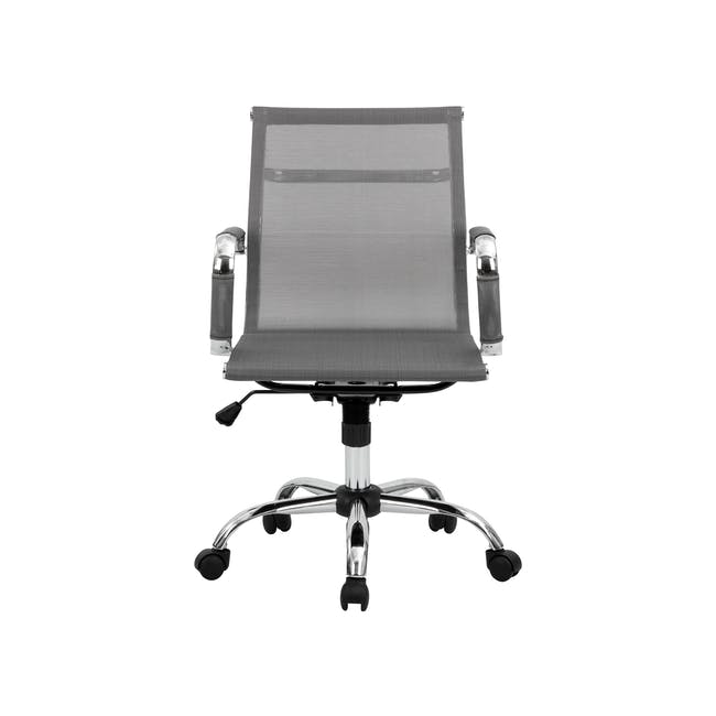 Eames Mid Back Mesh Office Chair Replica - Grey - 0