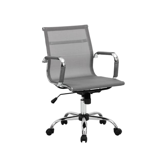 Eames Mid Back Mesh Office Chair Replica - Grey - 6