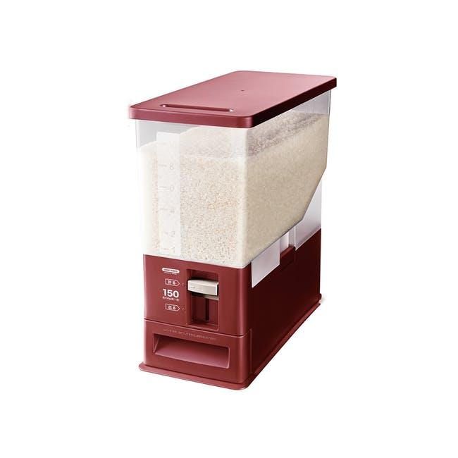 Asvel Unix Measure Rice Stocker - Red (2 Sizes) - 0