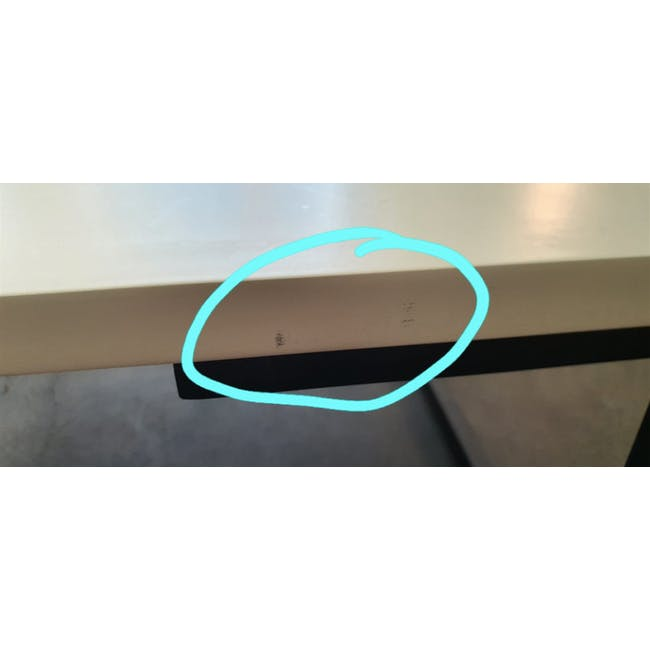 (As-is) Myron Rectangle Coffee Table - White, Matt Black - 5