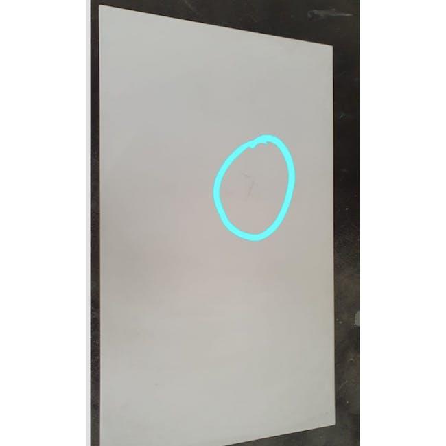 (As-is) Myron Rectangle Coffee Table - White, Matt Black - 9